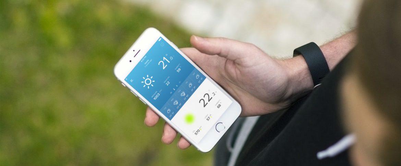 Application météo domotique sur un smartphone