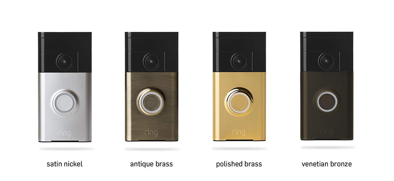 sonnette connectée Ring et ses 4 declinaison de couleur